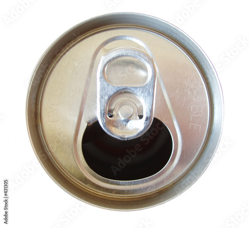 poster of open soda can top isolated on white background