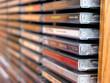 Leinwandbild Motiv music cd stack