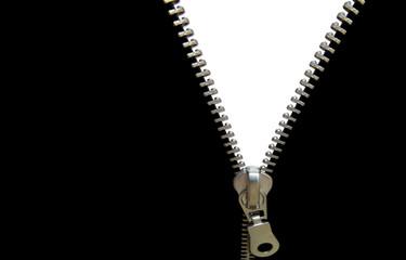zipper concept. black and white