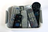 a basket of remotes poster