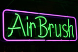 air brush neon sign poster