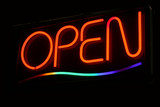 neon open sign poster