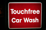 touchless car wash sign poster