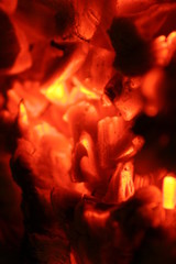 inside glowing hot embers