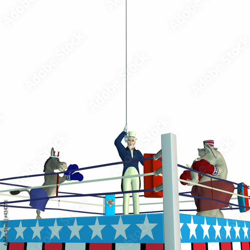 poster of political party - boxing 1