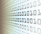 wall of binary code poster