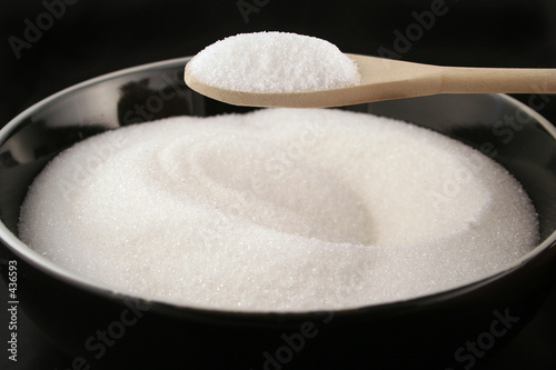 bowl of sugar with spoon