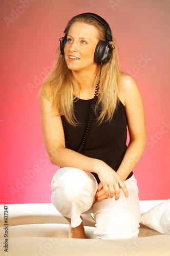 poster of women with headphones