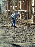 laborer digging poster