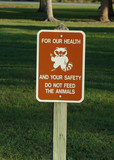 do not feed the animal poster