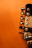 black electric guitar - serie (detail)