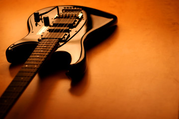 black electric guitar - serie