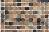 coffee-colored mosaic background poster