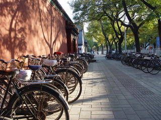 bicycles in beijing - landscape shot