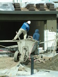 stucco workers, construction