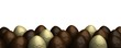 rows of chocolate easter eggs