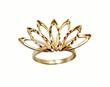 golden ring in form fan.