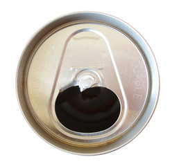 soda can with tab off