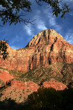 a zion peak at sunset poster