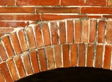 brick pattern and arch poster