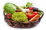 vegetables in the basket-2 poster