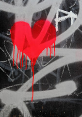 bleeding heart graffiti