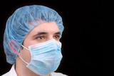 a portrait of a surgeon poster