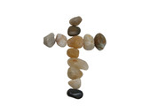 rocks cross-clipping path poster