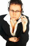 call centre agent poster