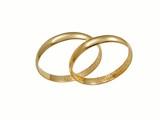 wedding golden rings poster