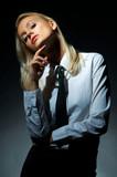 blond model pose poster