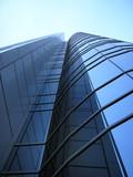 modern corporative business urban building poster
