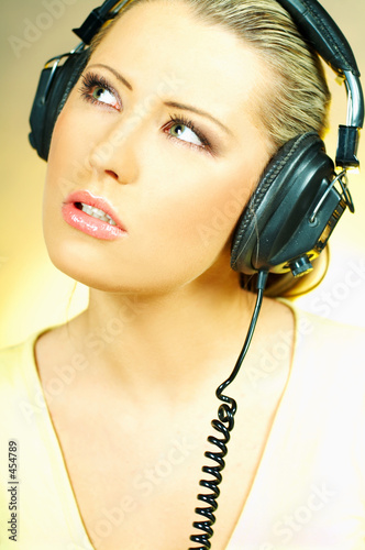 poster of sexy girl with headphones