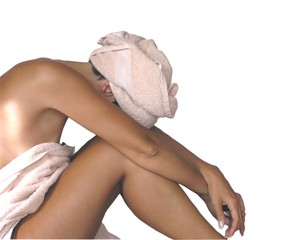 woman in towels