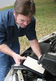 replacing auto air filter poster