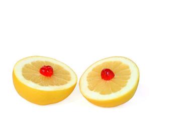 double grafefruit dessert
