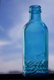 german blue glass bottle poster
