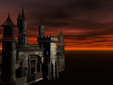 evil castle poster