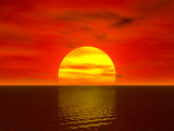 sunset render poster