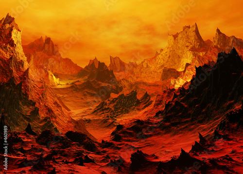Leinwandbild Motiv volcano aftermath
