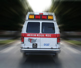 ambulance in route (fictitious business name/logo) poster
