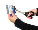 cutting credit cards poster