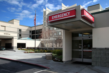 emergency room at the hospital
