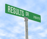results themed street sign poster