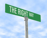 right way themed street sign poster