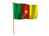 cameroon silk flag poster