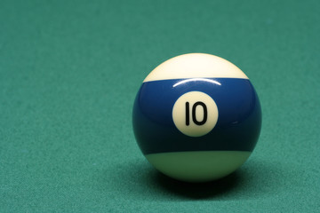 pool ball number 10