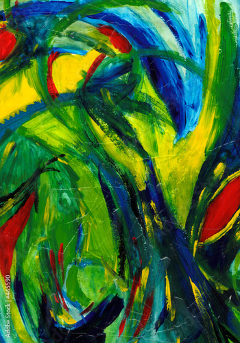 abstract art - hand painted