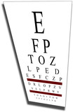 eye chart with clip path poster