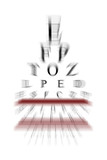 eye chart with zoom effect poster